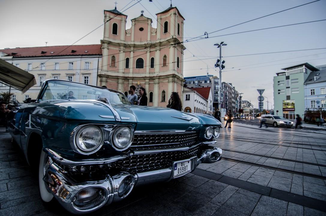 Bratislava old american car