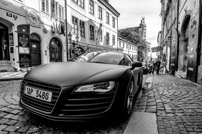 Audi R8 in Prague