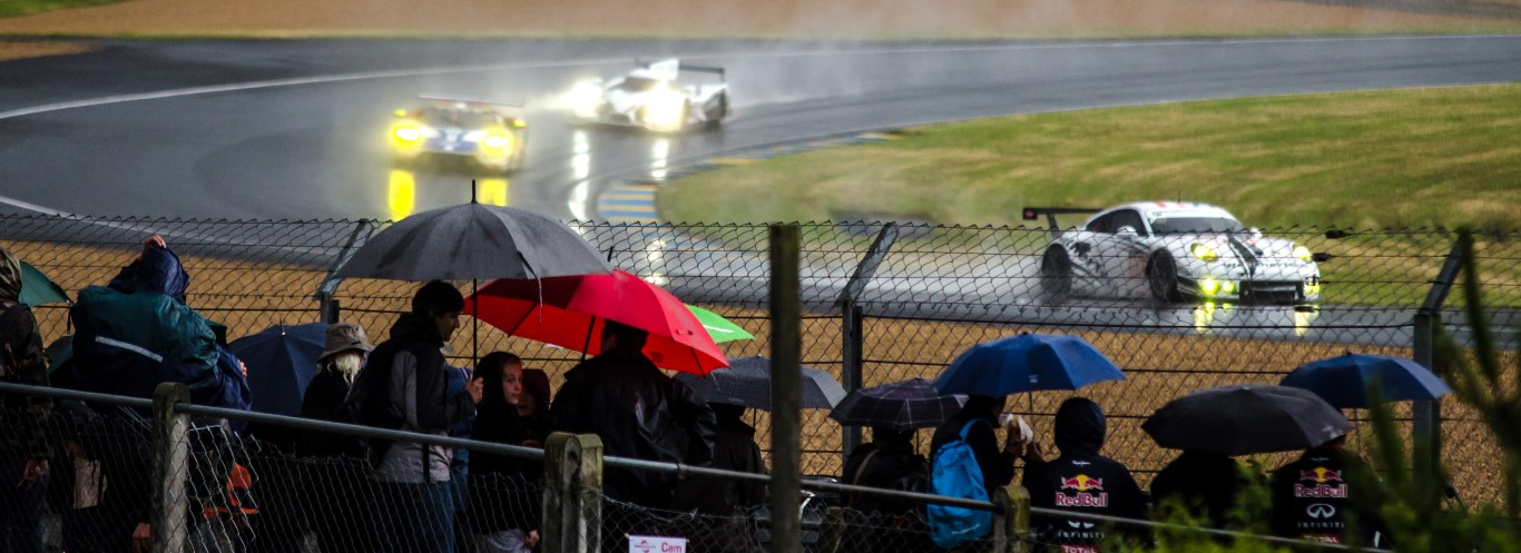 It always rains at Le Mans!
